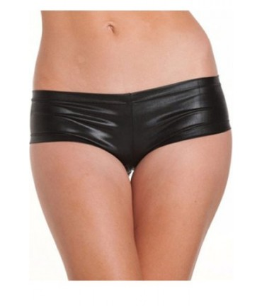Sextoys, sexshop, loveshop, lingerie sexy : Strings & Boxers : Sexy Boxer Shorty Style Cuir Noir