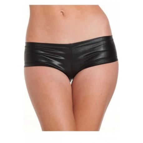 Sextoys, sexshop, loveshop, lingerie sexy : Strings & Boxers : Sexy Boxer Shorty Style Cuir Noir