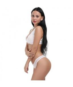 Sextoys, sexshop, loveshop, lingerie sexy : Ensemble lingerie sexy : Ensemble Lingerie sexy blanc dentelle L