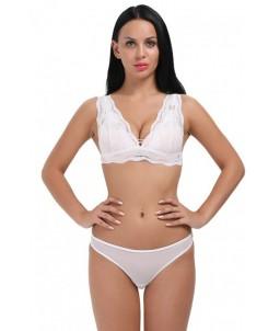 Sextoys, sexshop, loveshop, lingerie sexy : Ensemble lingerie sexy : Ensemble Lingerie fine sexy blanc dentelle XL