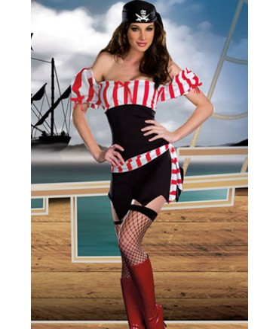 Sextoys, sexshop, loveshop, lingerie sexy : Deguisement Femme sexy : Costume Sexy Pirate S/M