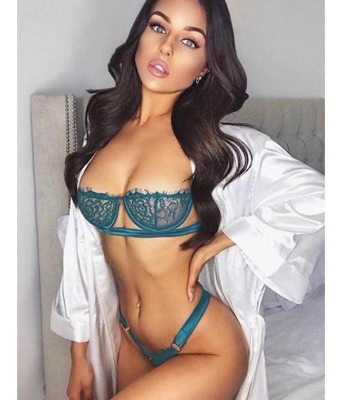 Sextoys, sexshop, loveshop, lingerie sexy : Lingerie sexy grande taille : Ensemble Lingerie bleu vert sexy XL