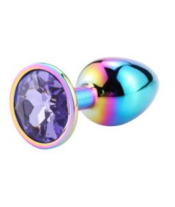 Sextoys, sexshop, loveshop, lingerie sexy : Rosebud - bijou anal : Bijou anal Rosebud Rainbow LARGE Violet clair