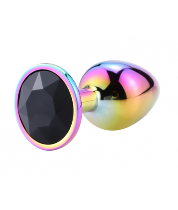 Sextoys, sexshop, loveshop, lingerie sexy : Rosebud - bijou anal : Bijou anal Rosebud Rainbow LARGE noir