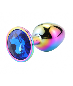 Sextoys, sexshop, loveshop, lingerie sexy : Rosebud - bijou anal : Bijou anal Rosebud Rainbow MEDIUM Bleu Foncé