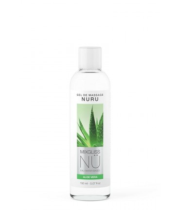 Sextoys, sexshop, loveshop, lingerie sexy : Massage Nuru : Mixgliss - Gel de massage nuru aloe vera 150 ml