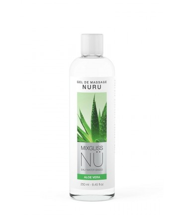 Sextoys, sexshop, loveshop, lingerie sexy : Massage Nuru : Mixgliss - Gel de massage nuru aloe vera 250 ml