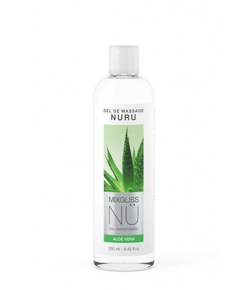 Sextoys, sexshop, loveshop, lingerie sexy : Massage Nuru : Mixgliss - Gel de massage nuru aloe vera 250 ml