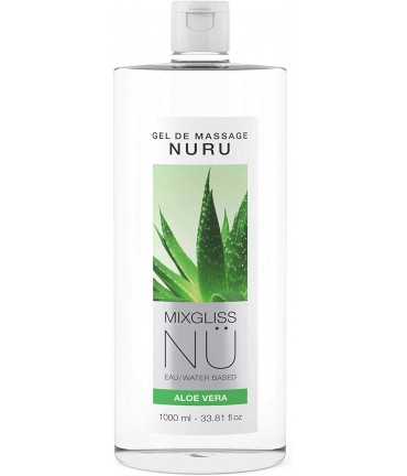 Sextoys, sexshop, loveshop, lingerie sexy : Massage Nuru : Mixgliss - Gel de massage nuru aloe vera 1L