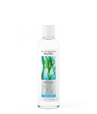 Sextoys, sexshop, loveshop, lingerie sexy : Massage Nuru : Mixgliss - Gel de massage nuru Algue 150 ml