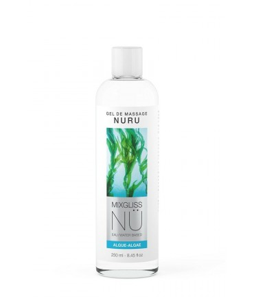 Sextoys, sexshop, loveshop, lingerie sexy : Massage Nuru : Mixgliss - Gel de massage nuru algue 250 ml