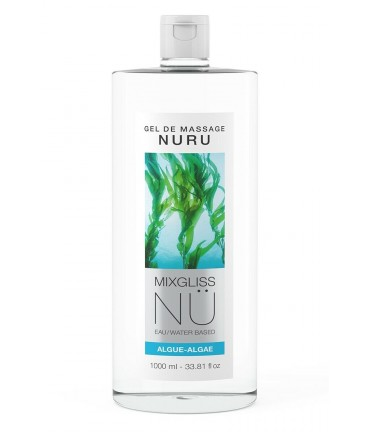 Sextoys, sexshop, loveshop, lingerie sexy : Massage Nuru : Mixgliss - Gel de massage nuru algue 1L