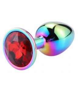 Sextoys, sexshop, loveshop, lingerie sexy : Rosebud - bijou anal : Bijou anal Rosebud Rainbow LARGE rouge