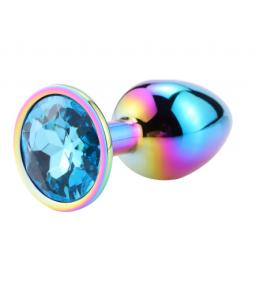 Sextoys, sexshop, loveshop, lingerie sexy : Rosebud - bijou anal : Bijou anal Rosebud Rainbow LARGE bleu clair