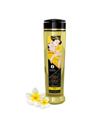 Sextoys, sexshop, loveshop, lingerie sexy : Huiles de Massage : Shunga Huile de Massage Erotique - serenity MONOI 240 ml
