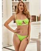 Sextoys, sexshop, loveshop, lingerie sexy : Ensemble lingerie sexy : Ensemble Lingerie vert fluo sexy M