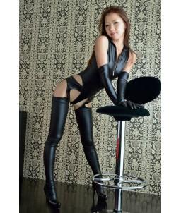 Sextoys, sexshop, loveshop, lingerie sexy : Clubwear / Tenues Sexy : Ensemble femme vinyle L