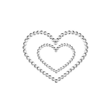 Sextoys, sexshop, loveshop, lingerie sexy : Nippies Cache Seins : Nippies Cache tétons en faux diamants Coeur ARGENT