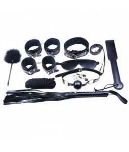 Sextoys, sexshop, loveshop, lingerie sexy : Kit BDSM : Coffret Fetish fourrure noir BDSM 10 pièces