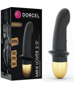 Sextoys, sexshop, loveshop, lingerie sexy : Sextoys luxe : Dorcel Vibromasseur Mini Lover 2.0 Noir et Or