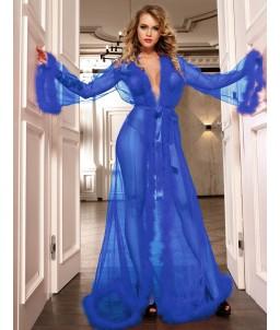 Sextoys, sexshop, loveshop, lingerie sexy : Déshabillés Longs : Déshabillé Long bleu sexy