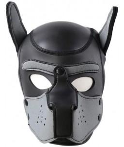 Sextoys, sexshop, loveshop, lingerie sexy : Cagoules SM : Cagoule chien bdsm gris/noir en simili cuir