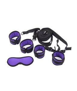 Sextoys, sexshop, loveshop, lingerie sexy : Kit BDSM : Kit attache BDMS noir et violet