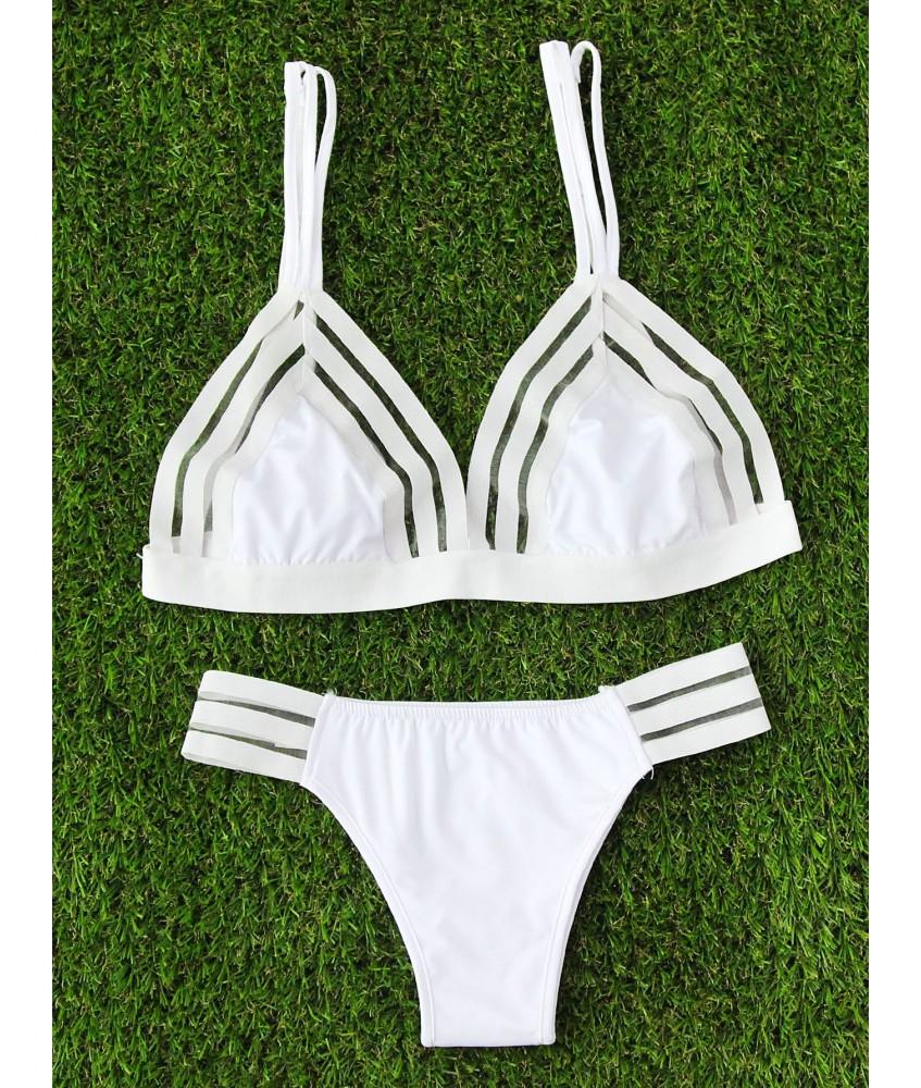 Sextoys, sexshop, loveshop, lingerie sexy : Maillot de bain et bikini : Maillot de bain Blanc semi transparent S/M