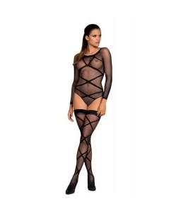 Sextoys, sexshop, loveshop, lingerie sexy : Ensemble lingerie sexy : Obsessive - Ensemble body et bas sexy résille G320