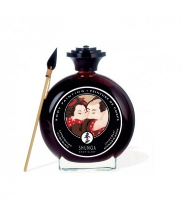 Sextoys, sexshop, loveshop, lingerie sexy : Accessoires Soirée Coquine : Shunga Peinture Corporel Chocolat