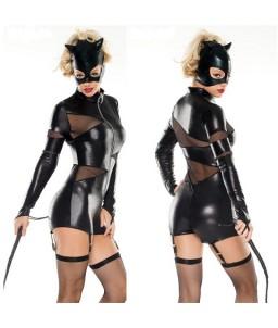Sextoys, sexshop, loveshop, lingerie sexy : Deguisement Femme sexy : Costume catwoman Combishort