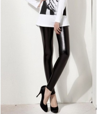 Sextoys, sexshop, loveshop, lingerie sexy : Leggings & Tops : Leggings Noir Style Vinyle