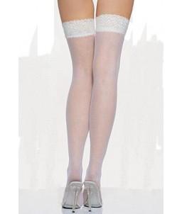 Sextoys, sexshop, loveshop, lingerie sexy : Bas & Collants : Sexy Bas Voile Blanc