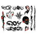 Sextoys, sexshop, loveshop, lingerie sexy : Tattoo et Pochoirs : Tatouage Temporaire - Tattoo éphémère Punk Bitch