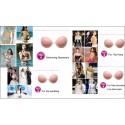 Sextoys, sexshop, loveshop, lingerie sexy : Faux seins et pushup silicone : Soutien-Gorge Auto Adhésif Invisible Bonnet C en ...