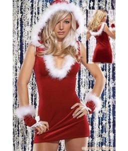 """Sextoys, sexshop, loveshop, lingerie sexy : Deguisement noel sexy : Costume Capuche Sexy """"Mère Noël"""""""