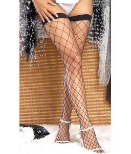 Sextoys, sexshop, loveshop, lingerie sexy : Bas & Collants : Sexy Bas Résille Grande maille Noir