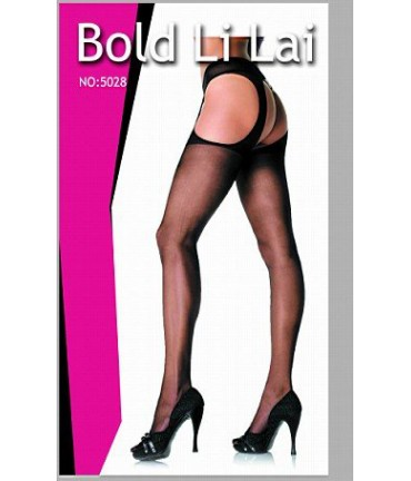 Sextoys, sexshop, loveshop, lingerie sexy : Bas & Collants : Sexy Collant String Porte-Jarretelles Voile Noir