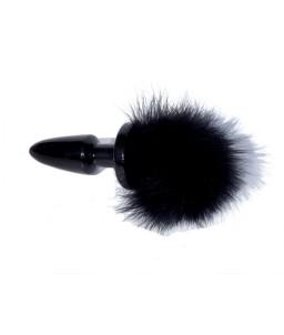 Sextoys, sexshop, loveshop, lingerie sexy : Plug Anal : Plug Anal Queue de Lapin Noir