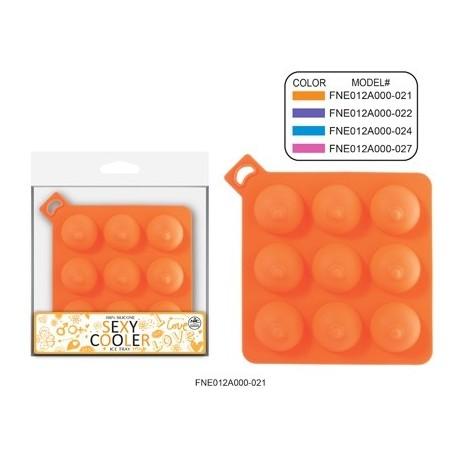 Sextoys, sexshop, loveshop, lingerie sexy : Accessoires Soirée Coquine : Moule à Glaçons 100% Silicone En forme de Seins 9 Cubes